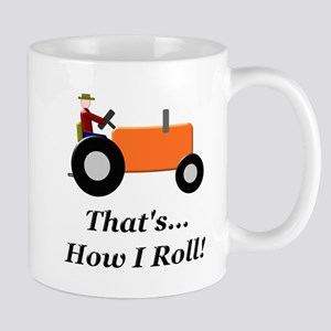 Orange Tractor How I Roll Mug