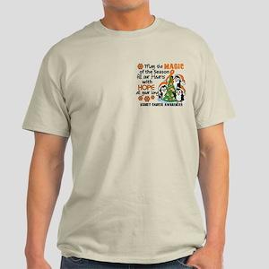 Holiday Penguins Kidney Cancer Light T-Shirt