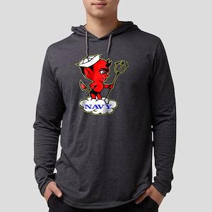 Blk_Navy_Devil Mens Hooded Shirt