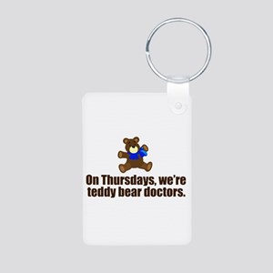 Teddy Bear Doctors Aluminum Photo Keychain