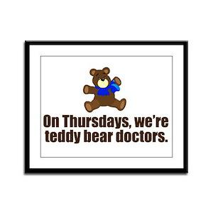 Teddy Bear Doctors Framed Panel Print