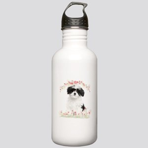 Havanese Flowers Stainless Water Bottle 1.0L