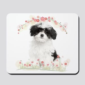 Havanese Flowers Mousepad