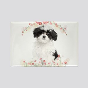 Havanese Flowers Rectangle Magnet