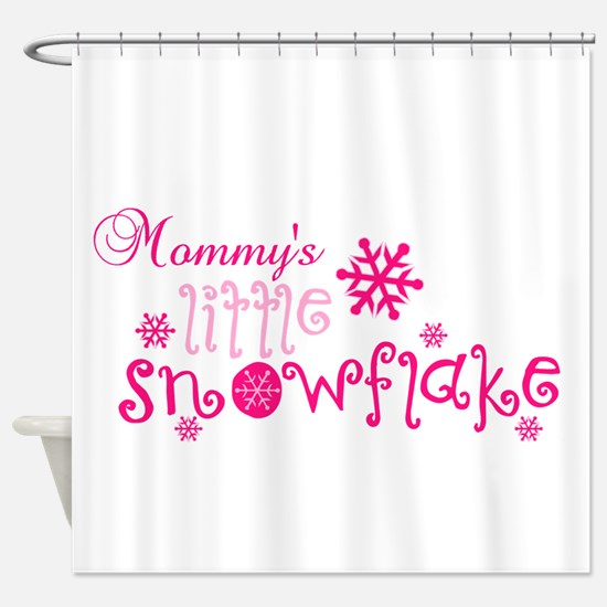 Mommys little snowflake Shower Curtain