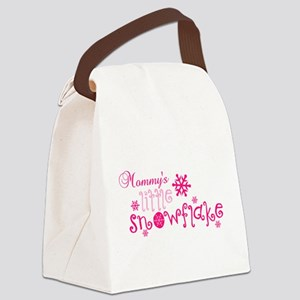 Mommys little snowflake Canvas Lunch Bag