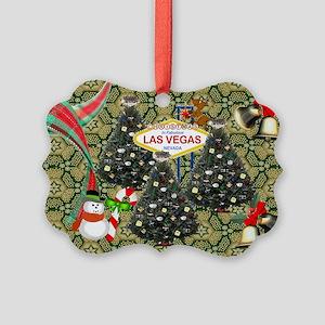 Las Vegas Christmas Trees Picture Ornament
