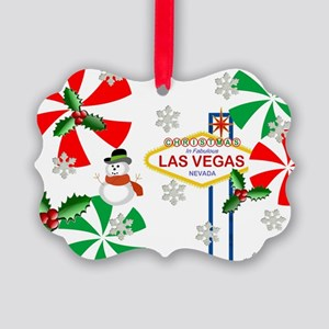 Las Vegas Frosty the Snowman Picture Ornament
