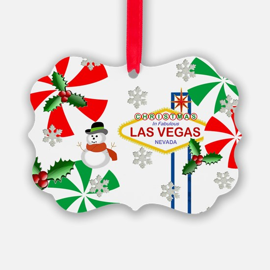 Las Vegas Frosty the Snowman Ornament