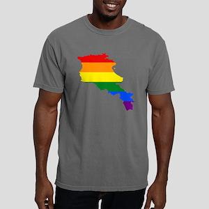 Gay Pride Flag Armenia.p Mens Comfort Colors Shirt