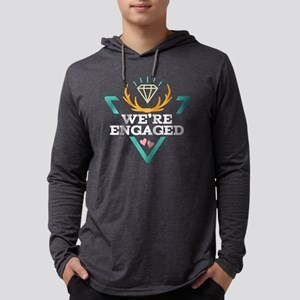 Couples Matching Engagement Hips Mens Hooded Shirt