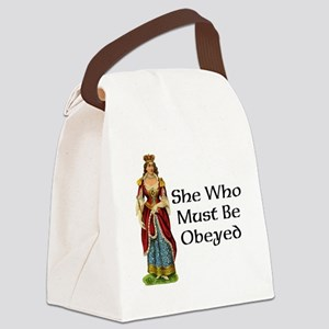 She's the Boss Canvas Lunch Bag
