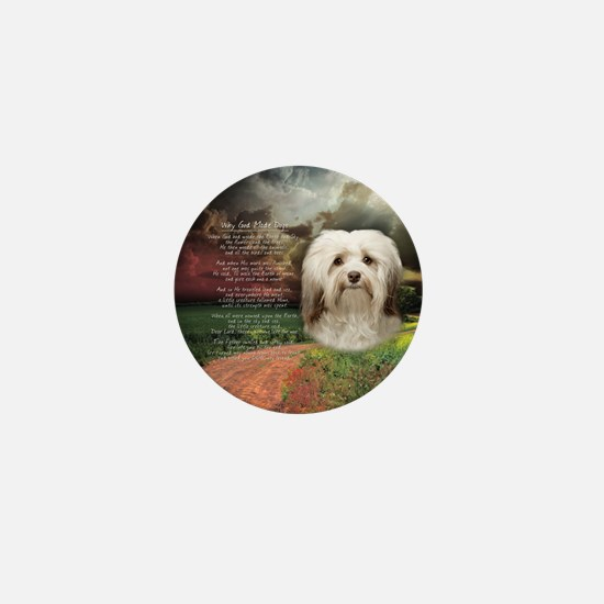 Why God Made Dogs - Havanese Mini Button