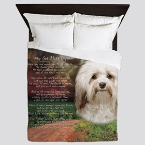 Why God Made Dogs - Havanese Queen Duvet