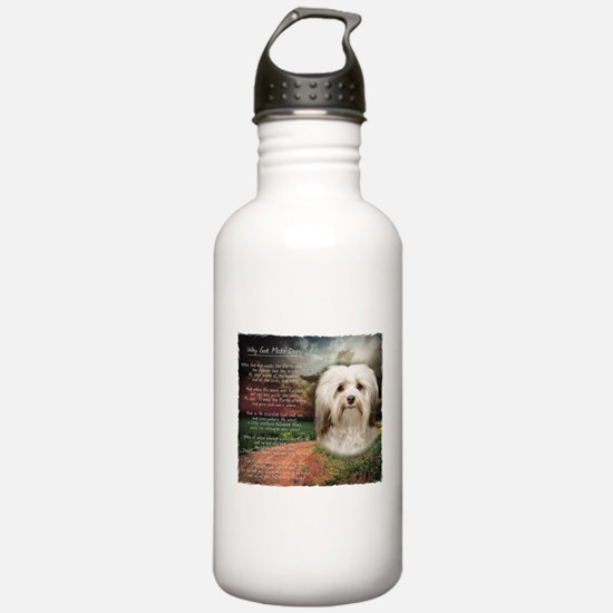 Why God Made Dogs - Havanese Water Bottle