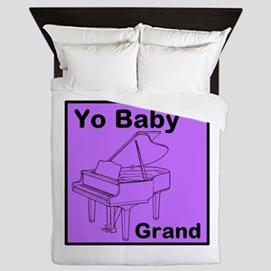 Yo Baby Grand! Queen Duvet