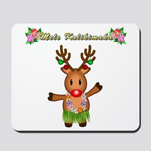 Mele Kalikimaka Deer Mousepad