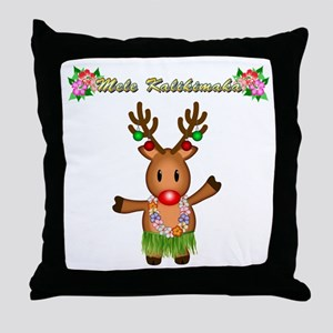 Mele Kalikimaka Deer Throw Pillow