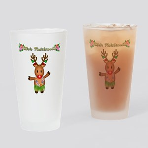 Mele Kalikimaka Deer Drinking Glass