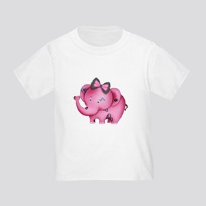 cute hearts pink elephant Toddler T-Shirt