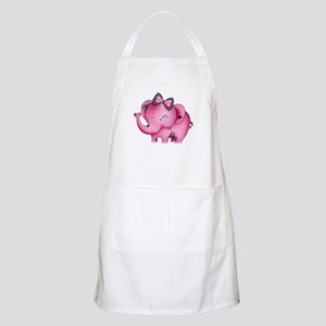 cute hearts pink elephant Apron