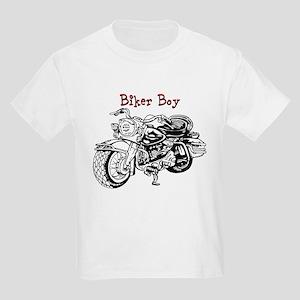 Biker Boy Kids Light T-Shirt