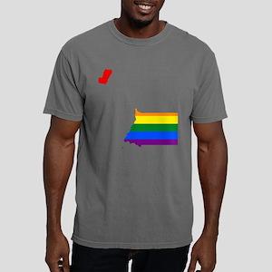 Gay Pride Flag Equatoria Mens Comfort Colors Shirt