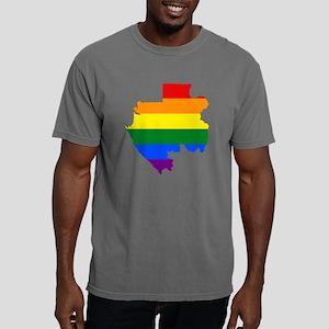 Gay Pride Flag Gabon Mens Comfort Colors Shirt