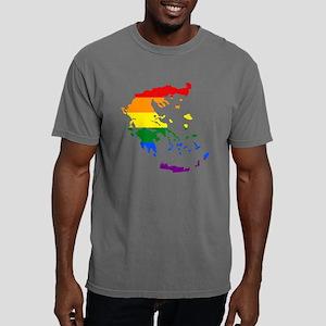 Gay Pride Flag Greece.pn Mens Comfort Colors Shirt