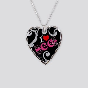 I love Cross Country Necklace Heart Charm