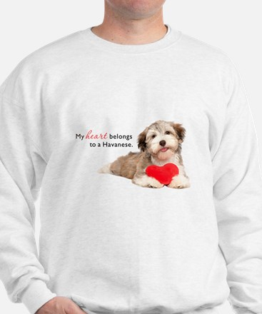 Havanese Heart Sweater