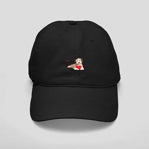 Havanese Heart Black Cap