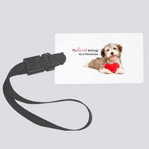 Havanese Heart Large Luggage Tag