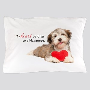 Havanese Heart Pillow Case