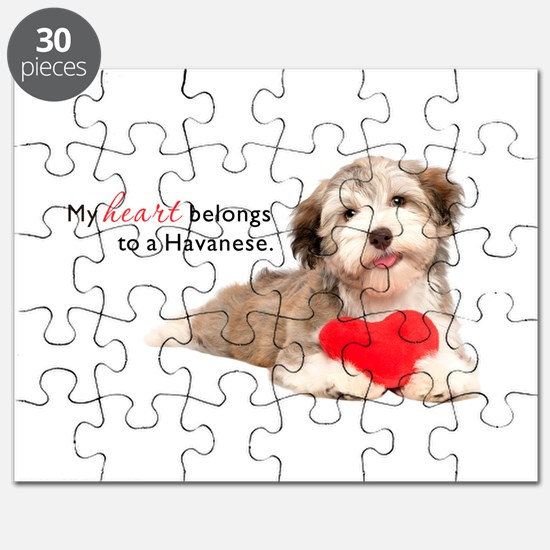 Havanese Heart Puzzle