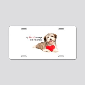 Havanese Heart Aluminum License Plate