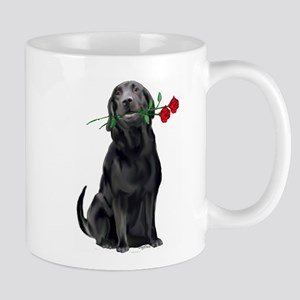 black_lab_with_roses Mug
