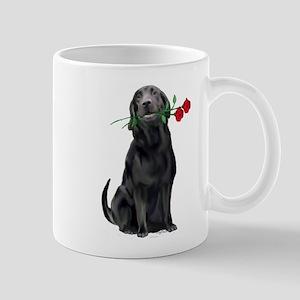black_lab_with_roses Mug