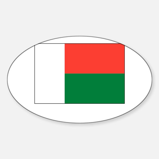 Madagascar Flag Picture Oval Decal