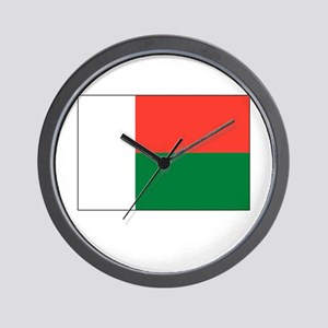 Madagascar Flag Picture Wall Clock