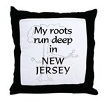 New Jersey Roots Throw Pillow