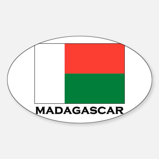 Madagascar Flag Stuff Oval Decal
