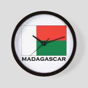Madagascar Flag Stuff Wall Clock