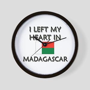 I Left My Heart In Madagascar Wall Clock