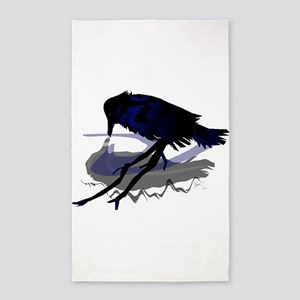 Raven Drinking with Shadow 3'x5' Area Rug