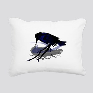 Raven Drinking with Shadow Rectangular Canvas Pill