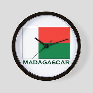 Madagascar Flag Gear Wall Clock
