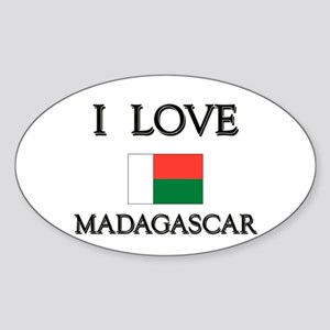I Love Madagascar Oval Sticker