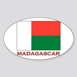 Madagascar Flag Merchandise Oval Sticker