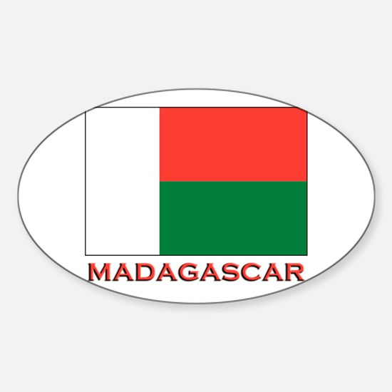 Madagascar Flag Merchandise Oval Decal